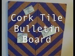 diy cork tile bulletin board theeasydiy roomdecor