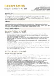 Executive Assistant To The CEO Resume Sample