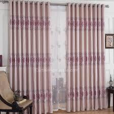 modern light purple jacquard flower window curtain for living room