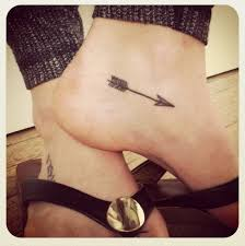 Nice Arrow Tattoos Above Ankle Photo