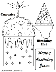 Happy Birthday Hats Coloring Sheets New Year Party Hat For Page