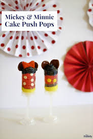 Mickey and Minnie Cake Push Pops