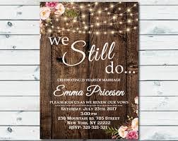 We Still Do Invite Vow Renewal Invitation Wedding Anniversary Invitations RSVP Card