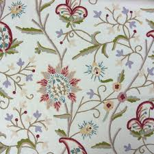 Fabric For Curtains Uk by A Traditional Wool Embroidered Fabric
