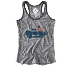 Classic American Lifted Pick Up Truck American Flag Tank Top – Red ...