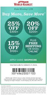 World Market Coupons - 15-25% Off $100+ At Cost Plus 28 Proven Cost Plus World Market Shopping Secrets The Krazy Coupon 40 Off Coupons Promo Discount Codes Wethriftcom Tint World Cary Code For Mermaid Swim Tails Save Money With Direct Cbd Online Coupon Get Now Coupons Lady Best Black Friday Sales Home Decor Fniture Peoplecom Market Archives Addisons Woerland On Itunes Baja Fresh And More Encino How To Develop A Successful Marketing Strategy Increase Hello Kitty Collecvideosinspiration Ecommerce Promotions 101 For 20 Growth
