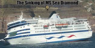Cruise Ship Sinking Santorini by The Sinking Of Ms Sea Diamond Learning History