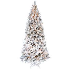 D28 9ft Pre Lit Haven Flocked Pine Christmas Tree