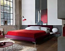 Curved Floor Lamp Next by Apartment Eye Catching And Eccentric Purple Bed With Red