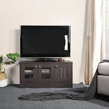 Black Gloss And Walnut TV Stand Sideboard And Storage Cabinet