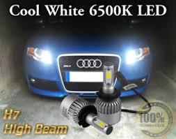 2x bulbs h7 led cree cob headlights beam 6500k white audi a4