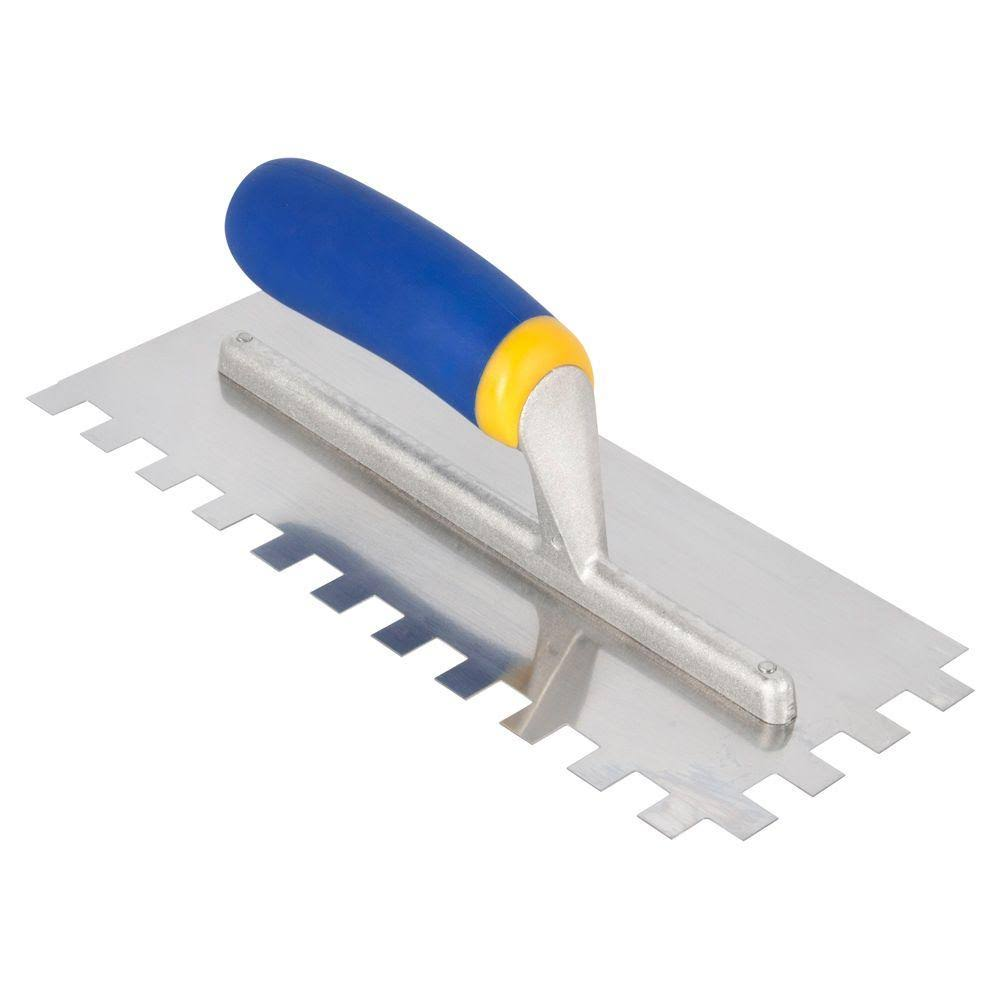QEP Square-Notch Stainless Steel Trowel - 1/2in x 1/2in x 1/2in