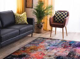teppich bunt 140 x 200 cm kurzflor mardin beliani ch