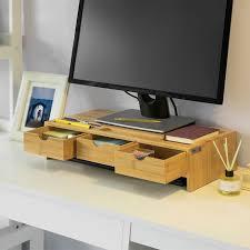 monitor stand pc increase bamboo screen increase monitor