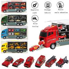 100 Demolition Truck 6pcs Kids Lorry Cars Transporter Digger Vehicle