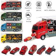 100 Demolition Truck 6pcs Kids Lorry Cars Transporter Digger Vehicle