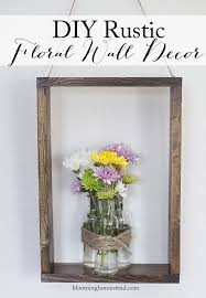 DIY Rustic Floral Wall Decor
