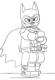 Related Coloring Pages Lego Batman Batgirl