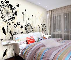 Creative Floral Wall Designs For Bedrooms Idea