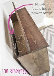 ana white bedside charging table or nighstand diy projects