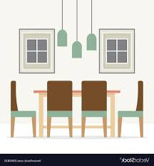 Clipart Of Colorful Dining Room K12356591