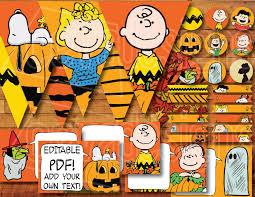 Snoopy Pumpkin Carving Kit by Printable It U0027s The Great Pumpkin Charlie Brown