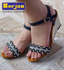 stylish flat slippers and high heel sandals for girls by borjan