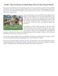 Get A Home Plan Guide How To Choose An Ideal Home Plan For Your Home