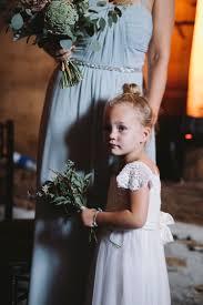 Flower Girl Dress Hair Bun Rustic Quintessentially English Countryside Wedding