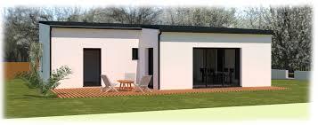bac a avec toit maison contemporaine plain pied avec toits monopentes au poiré sur