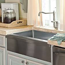 Farmhouse Style Sink by Types Of Kitchen Sinks Home Design Ideas And Pictures