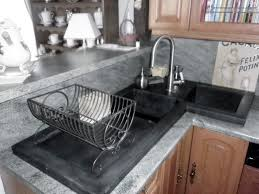 Double Kitchen Sinks With Drainboards by Double Kitchen Sink Ductal Uhp Concrete Corner With