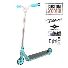 ethic scooter deck ebay rworx blue bandana custom stunt scooter rworx shop