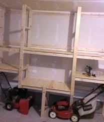 no cutting diy garage shelving garage workshop tutorials