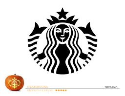 Starbucks Logo Pumpkin Carving Template