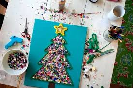 Easy Crafts Kids Can Make With Love Christmas Tree Throwback Craft For Pinterest Craftsy Fabric Ages 8 12