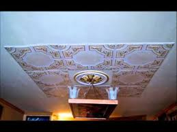 how to paint ceiling tiles from foam