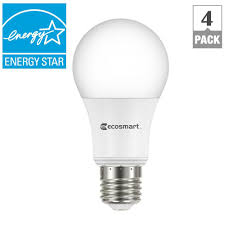 ecosmart 60w equivalent bright white a19 energy and dimmable