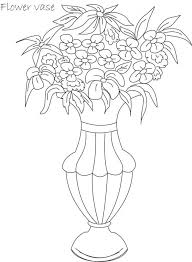 Drawing Flower Pot Image Coloring