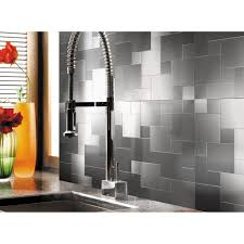 Metal Tiles For Backsplash by 32 Pcs Peel And Stick Kitchen Backsplash Adhesive Metal Tiles For