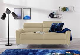 inosign 3 sitzer juno in trendigen farben in 3 unterschiedlichen bezugsqualitäten und mit schönen chromfarbenen metallbeinen breite 185 cm