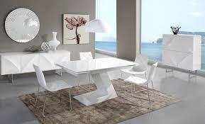 salle a manger complet meuble de salle à manger complète blanc laqué design arta