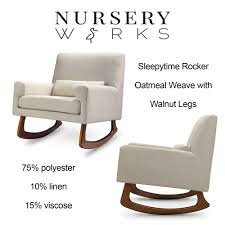 Clearance Depot - NEW Nursery Works Sleepytime Rocker, Oatmeal Weave ... Ideal Modern Rocking Chair Nursery Indoor Outdoor Decor Majestic Glider Chairs Sofa Rocker Home Appealing Works Sleepytime Combine With Reviews Wayfair In Choice Of Color By Philippa Jimmy Allmodern Walnut Legs Beige Weave Time And Weekly Photos Merrypad Fniture Design Archives Cdbossington Interior 100 Gray For Best Ideas About Coal Fan These 12 Options May Sway You To Team