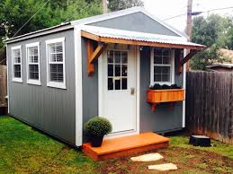 Tuff Shed Weekender Cabin by Backyard Office Derksen Portable Building Finished Out