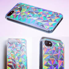 5 5S Holographic Hologram Iridescent 3D Diamond Triangle Case