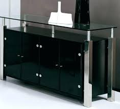 Black Buffet Cabinet Server Dining Room China Hutch