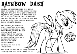 My Little Pony Coloring Pages Rainbow Dash Filly Human