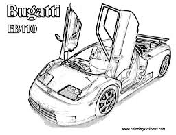 Cars Coloring Fast Free Bugatti Race Car Pages