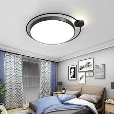 led deckenleuchte modern rund in schwarz weiß für esszimmer