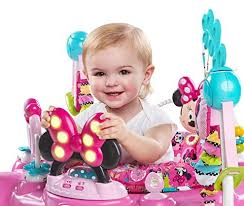 table activité bébé avec siege disney baby aire d eveil forme minnie jumper un bon choix